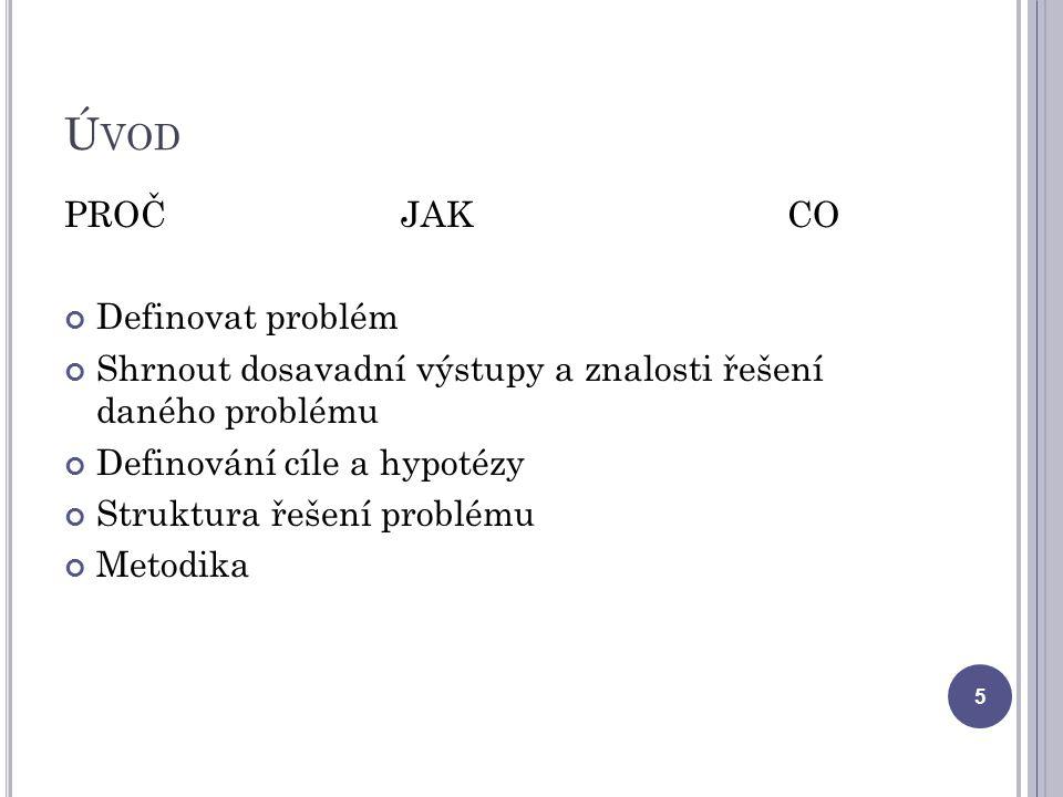 Úvod PROČ JAK CO Definovat problém