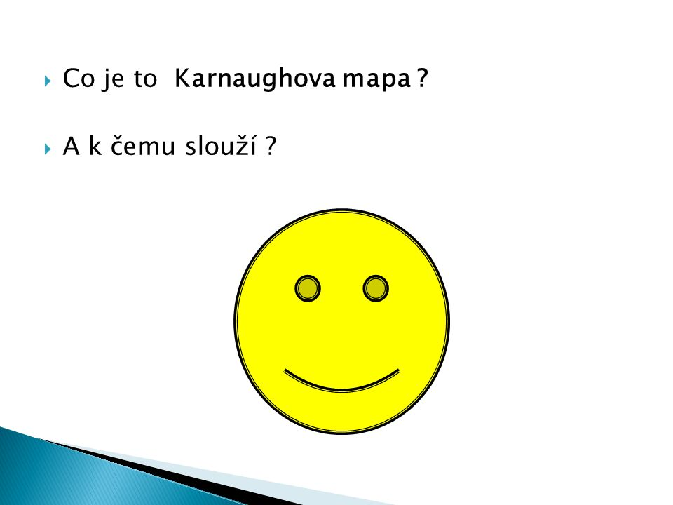 Co je to Karnaughova mapa