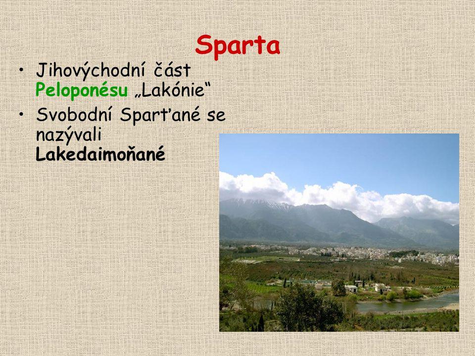 """Sparta Jihovýchodní část Peloponésu """"Lakónie"""