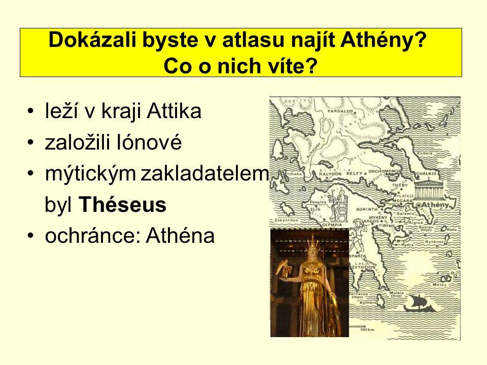 Dokázali byste v atlasu najít Athény
