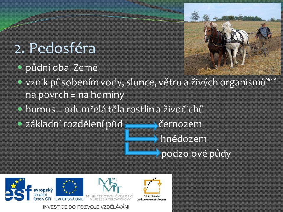 2. Pedosféra půdní obal Země