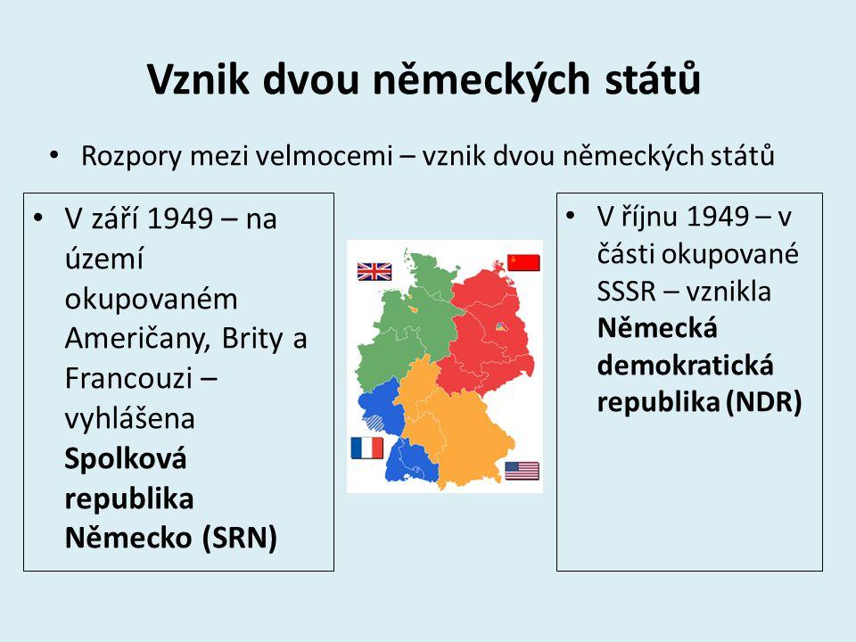 Vznik dvou německých států