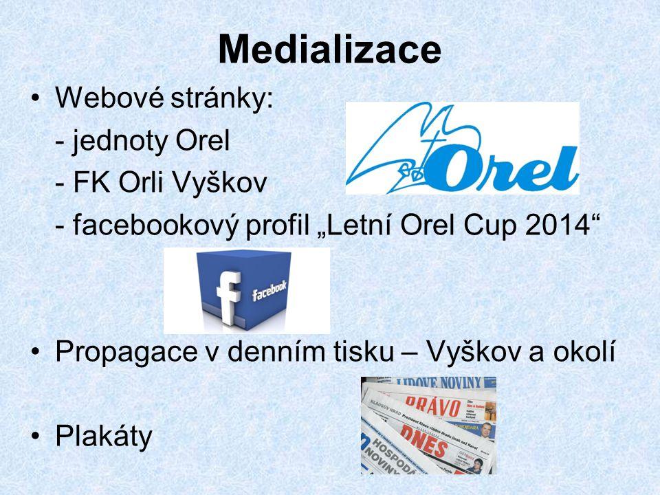 Medializace Webové stránky: - jednoty Orel - FK Orli Vyškov