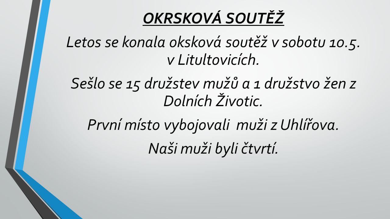 Letos se konala oksková soutěž v sobotu 10.5. v Litultovicích.