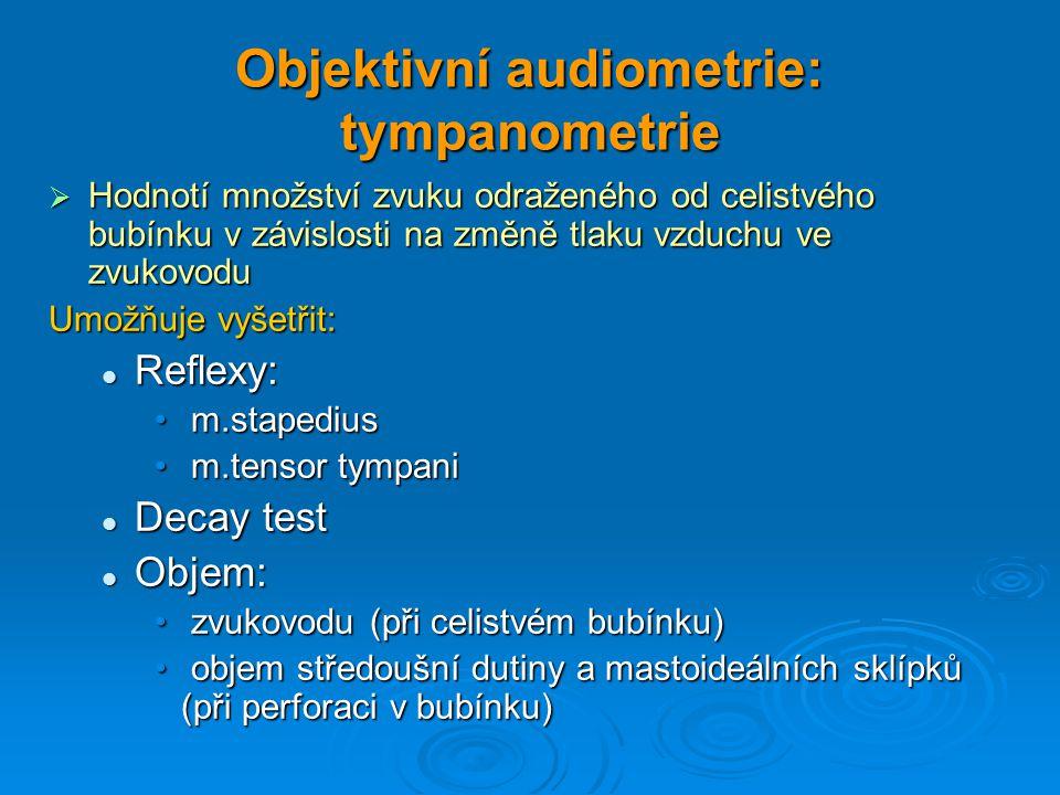 Objektivní audiometrie: tympanometrie