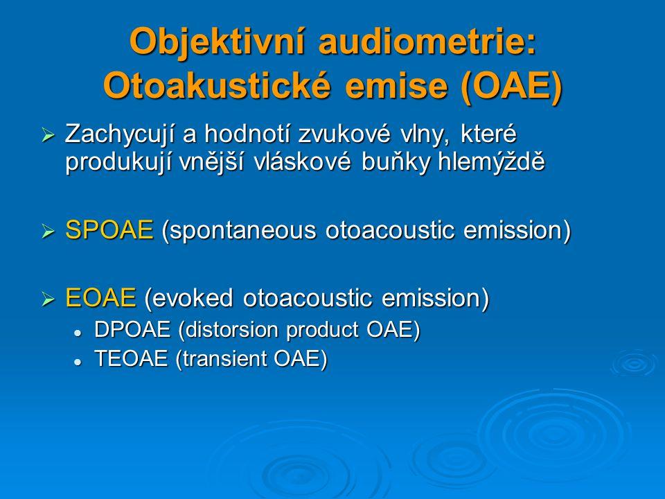 Objektivní audiometrie: Otoakustické emise (OAE)
