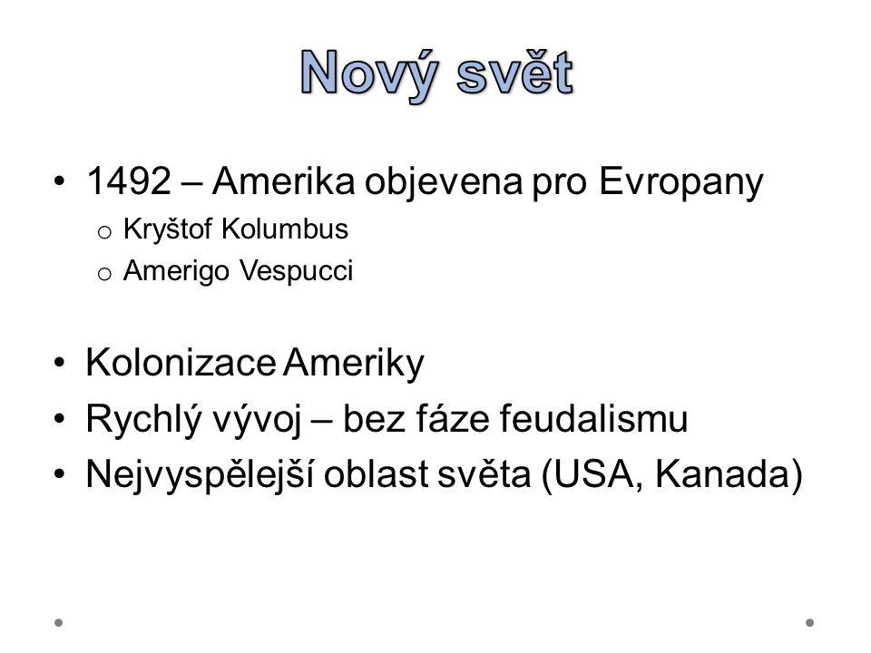 Nový svět 1492 – Amerika objevena pro Evropany Kolonizace Ameriky