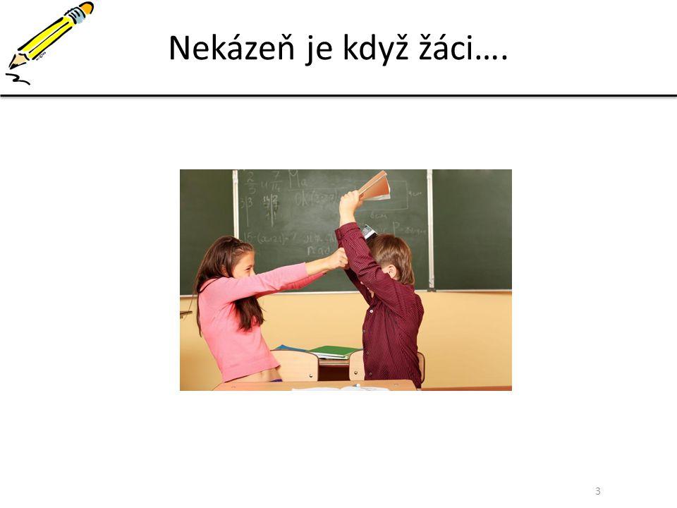 Nekázeň je když žáci….