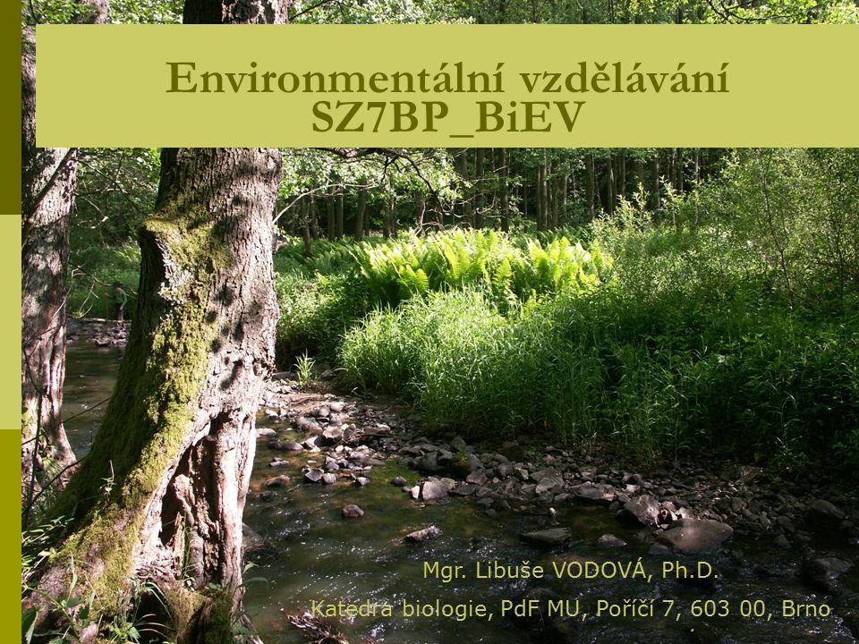 Environmentální vzdělávání SZ7BP_BiEV