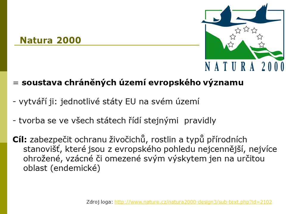 Natura 2000 = soustava chráněných území evropského významu