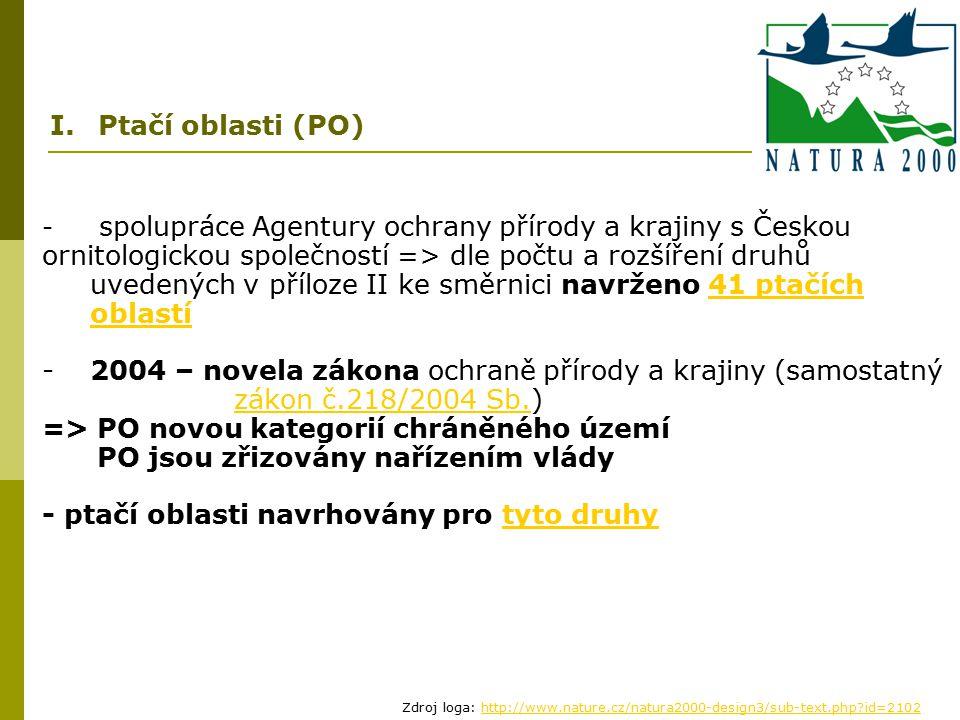 => PO novou kategorií chráněného území