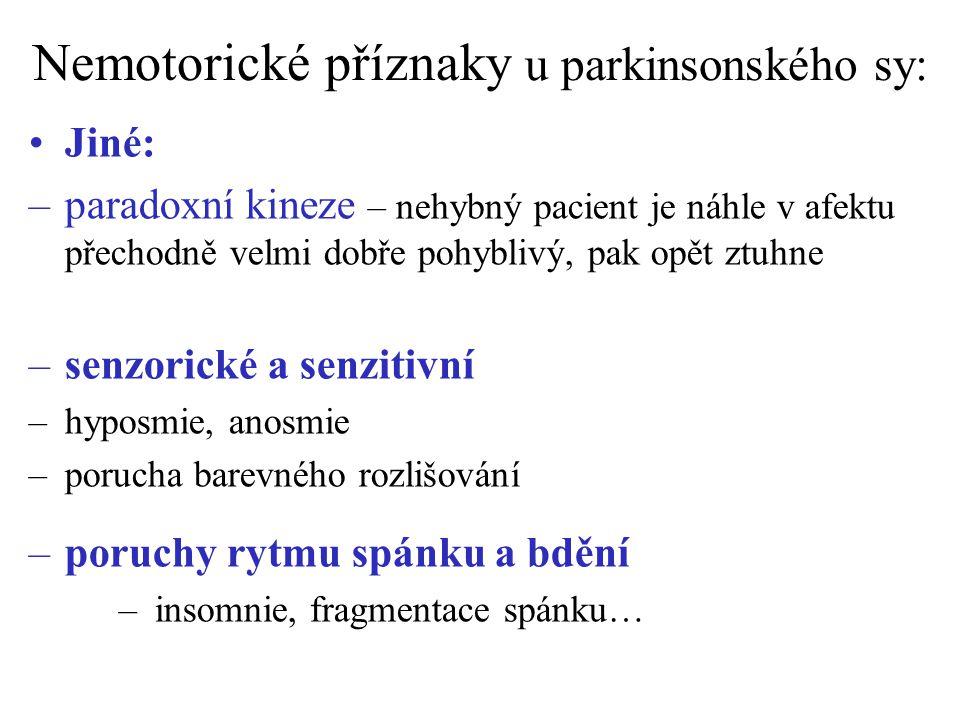 Nemotorické příznaky u parkinsonského sy:
