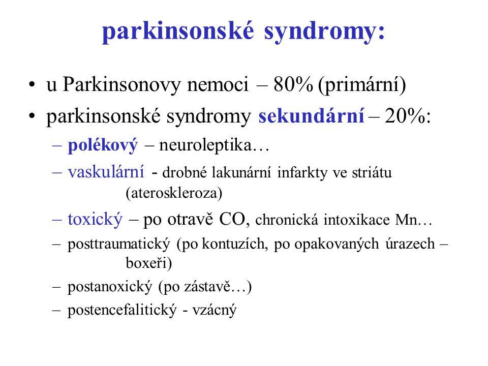 parkinsonské syndromy: