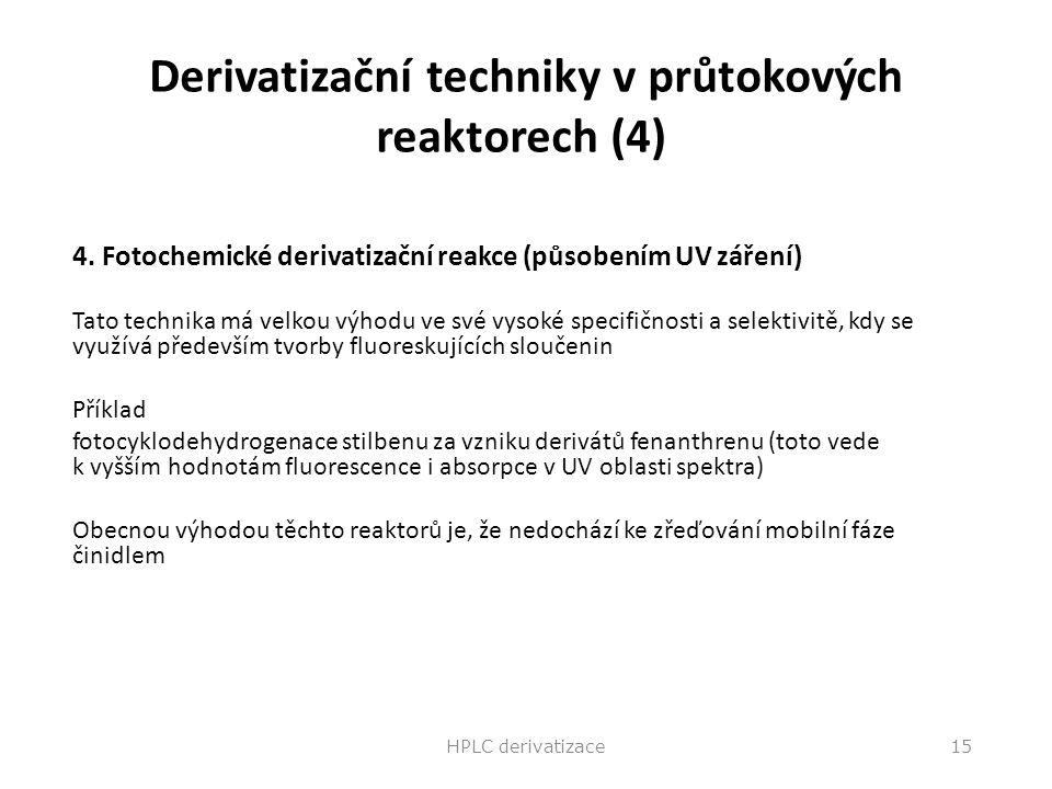 Derivatizační techniky v průtokových reaktorech (4)