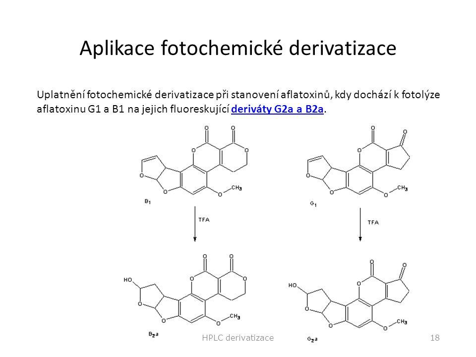 Aplikace fotochemické derivatizace