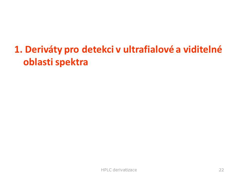 1. Deriváty pro detekci v ultrafialové a viditelné oblasti spektra