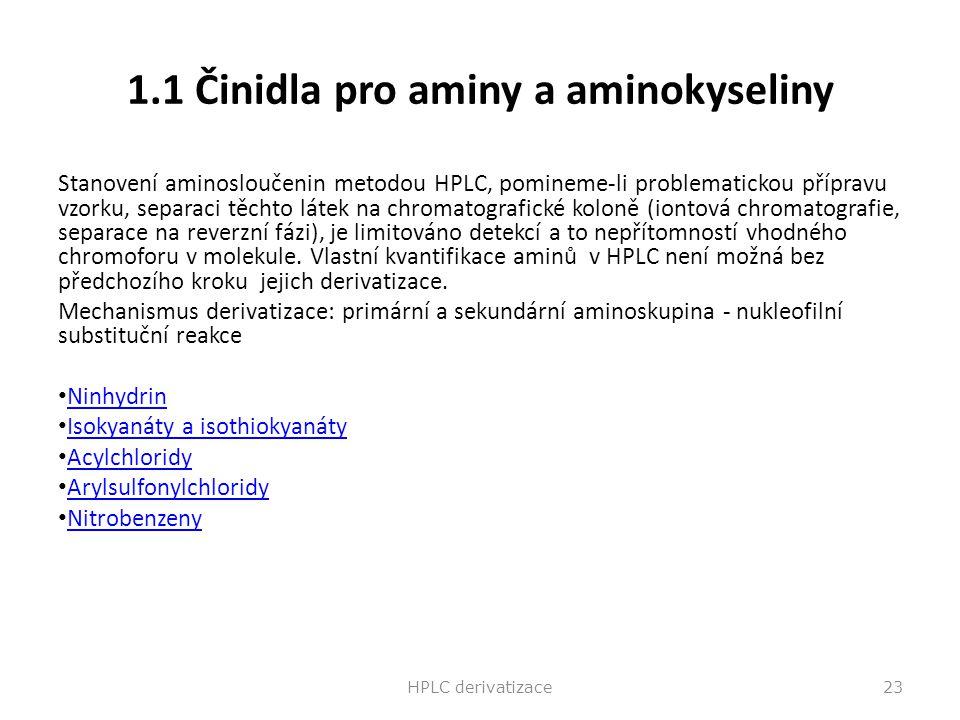 1.1 Činidla pro aminy a aminokyseliny