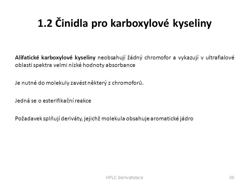1.2 Činidla pro karboxylové kyseliny