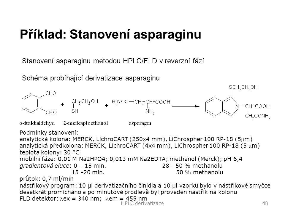 Příklad: Stanovení asparaginu