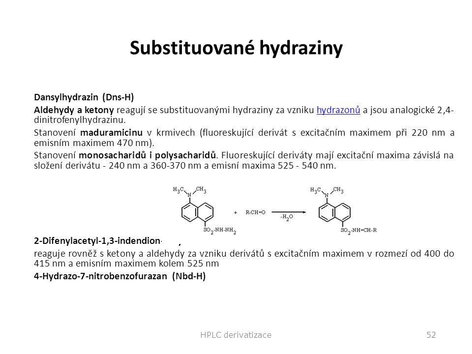 Substituované hydraziny