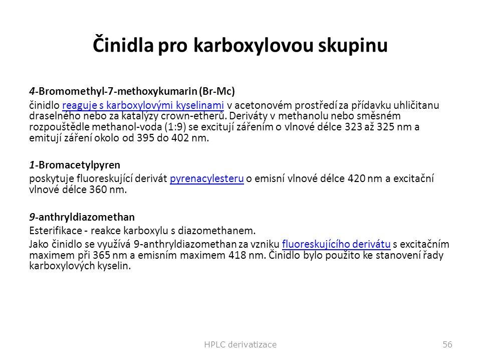 Činidla pro karboxylovou skupinu