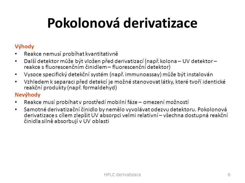 Pokolonová derivatizace