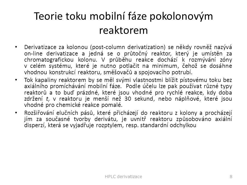 Teorie toku mobilní fáze pokolonovým reaktorem