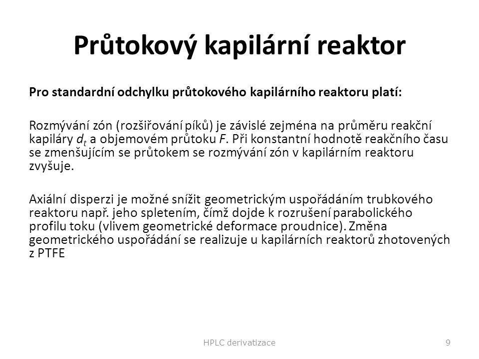 Průtokový kapilární reaktor