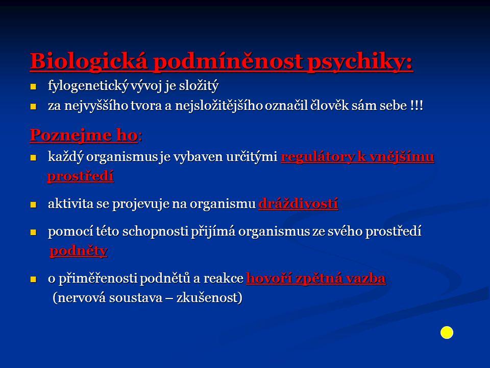 Biologická podmíněnost psychiky: