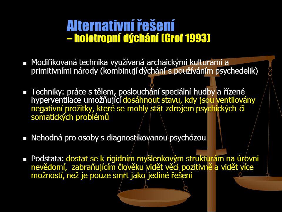 Alternativní řešení – holotropní dýchání (Grof 1993)