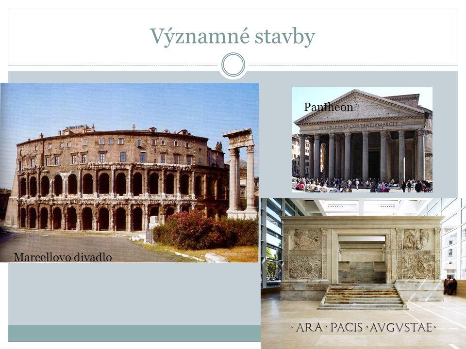 Významné stavby Pantheon Marcellovo divadlo
