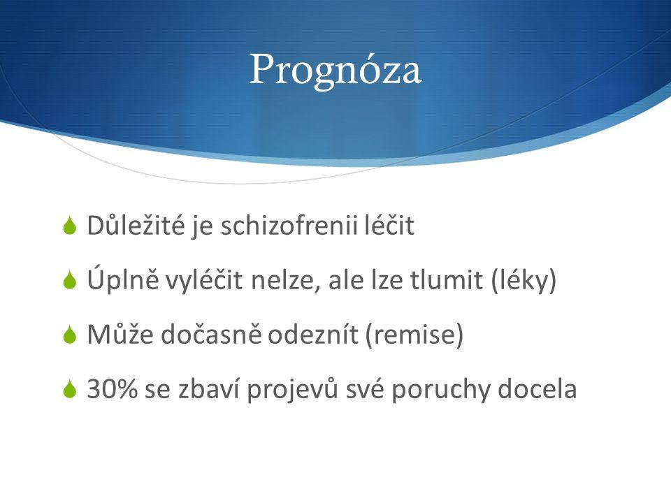 Prognóza Důležité je schizofrenii léčit