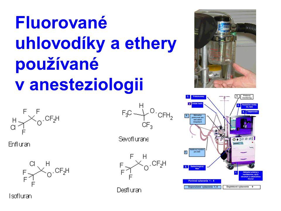Fluorované uhlovodíky a ethery používané v anesteziologii