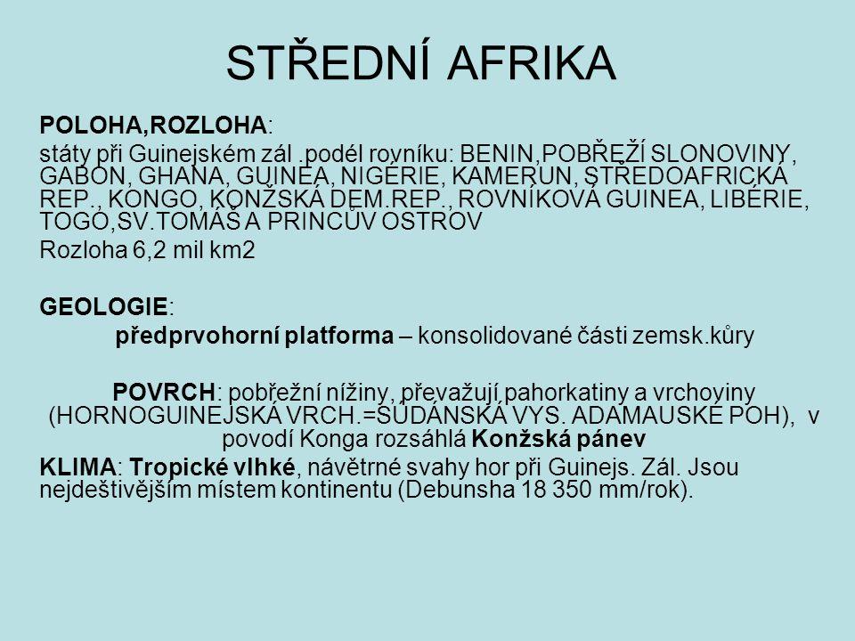 předprvohorní platforma – konsolidované části zemsk.kůry