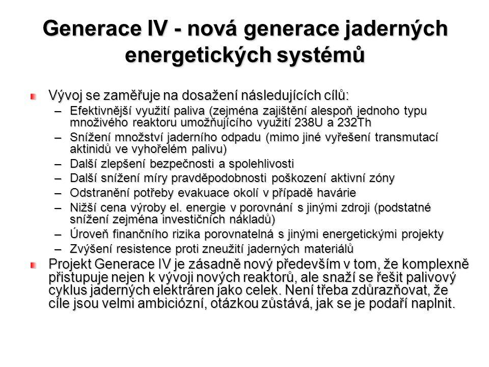 Generace IV - nová generace jaderných energetických systémů