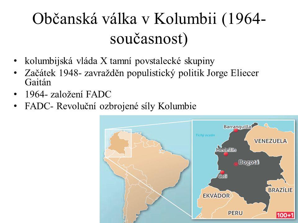 Občanská válka v Kolumbii (1964- současnost)