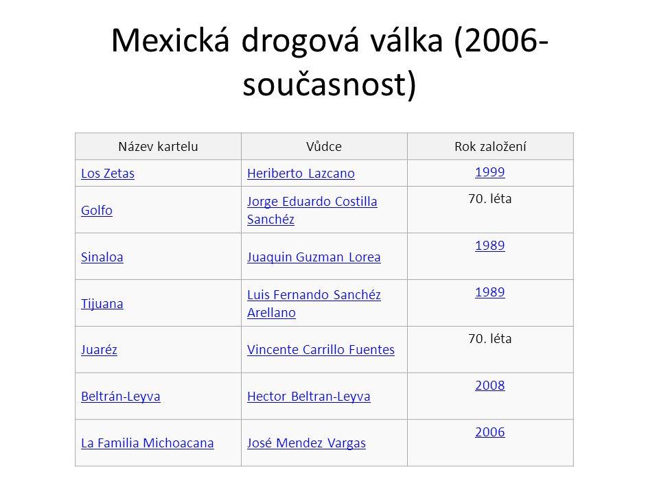 Mexická drogová válka (2006- současnost)