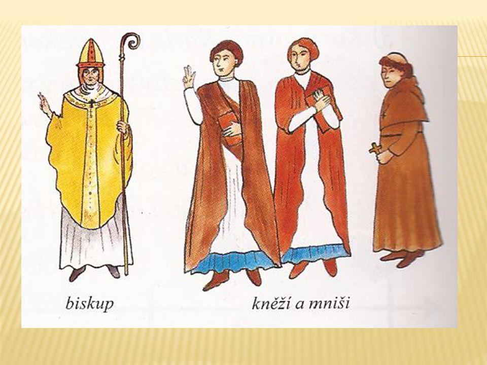 církev vlastnila kláštery, kostely, vesnice s poddanými