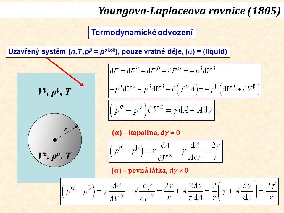 Youngova-Laplaceova rovnice (1805)