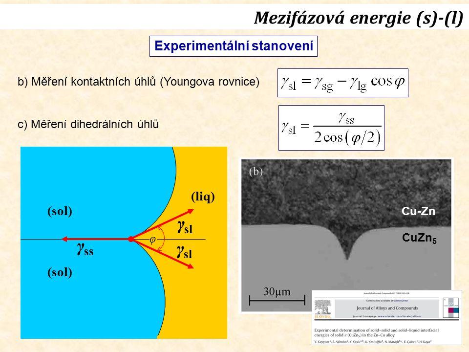 Mezifázová energie (s)-(l)
