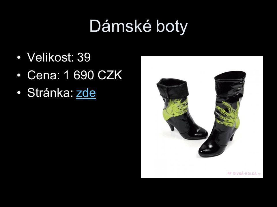 Dámské boty Velikost: 39 Cena: 1 690 CZK Stránka: zde