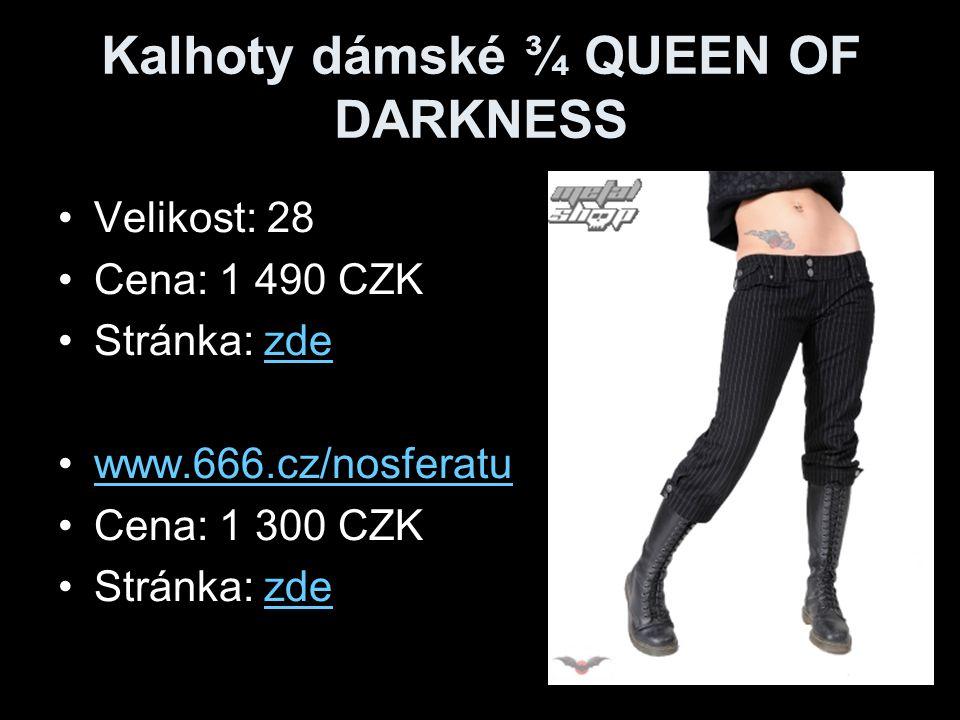 Kalhoty dámské ¾ QUEEN OF DARKNESS