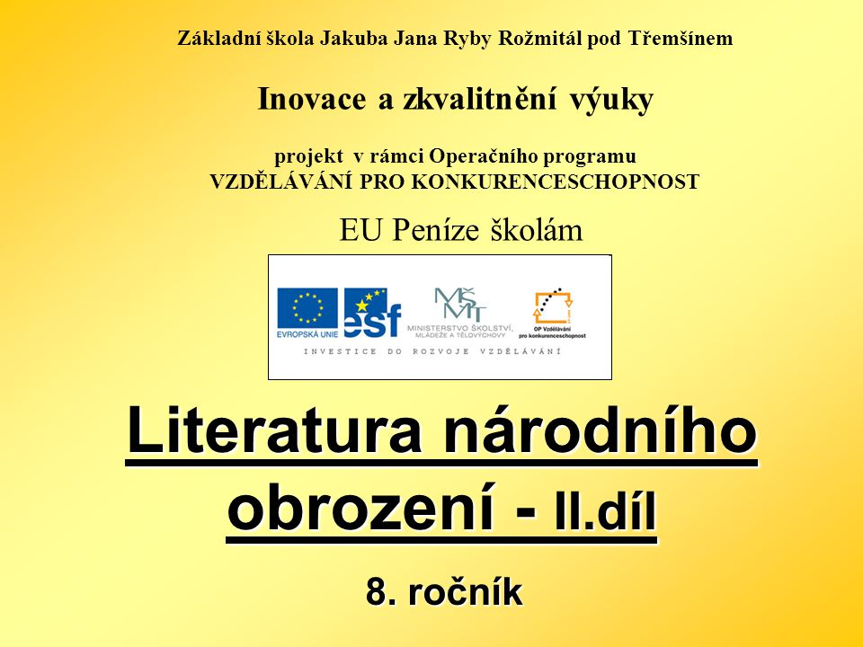 Literatura národního obrození - II.díl