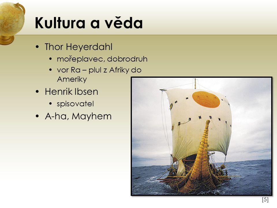 Kultura a věda Thor Heyerdahl Henrik Ibsen A-ha, Mayhem