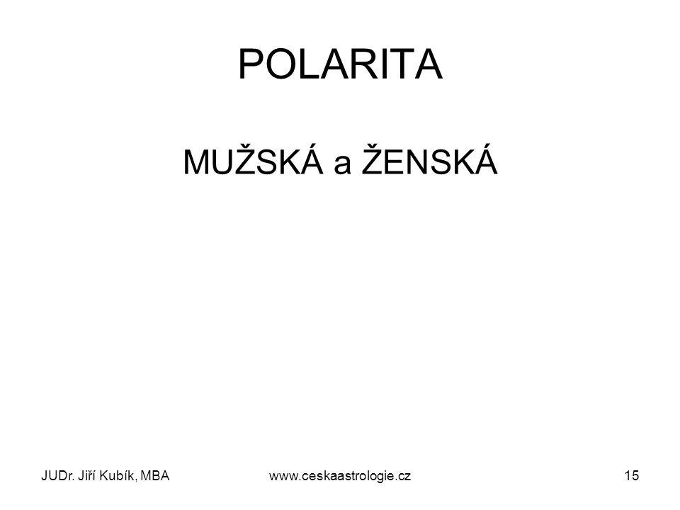 POLARITA MUŽSKÁ a ŽENSKÁ JUDr. Jiří Kubík, MBA www.ceskaastrologie.cz
