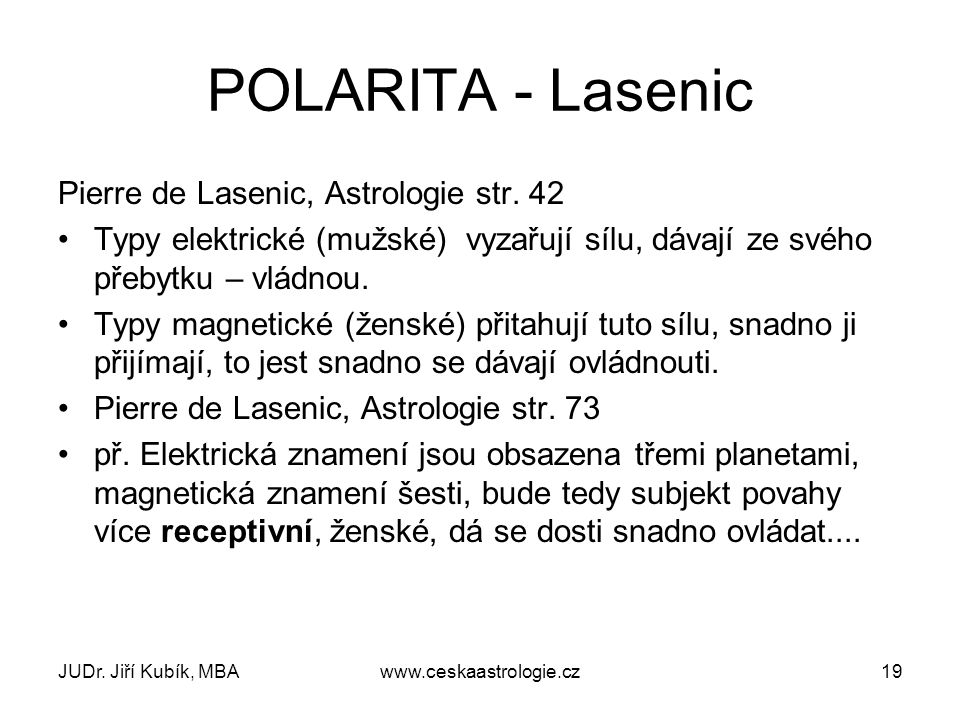 POLARITA - Lasenic Pierre de Lasenic, Astrologie str. 42