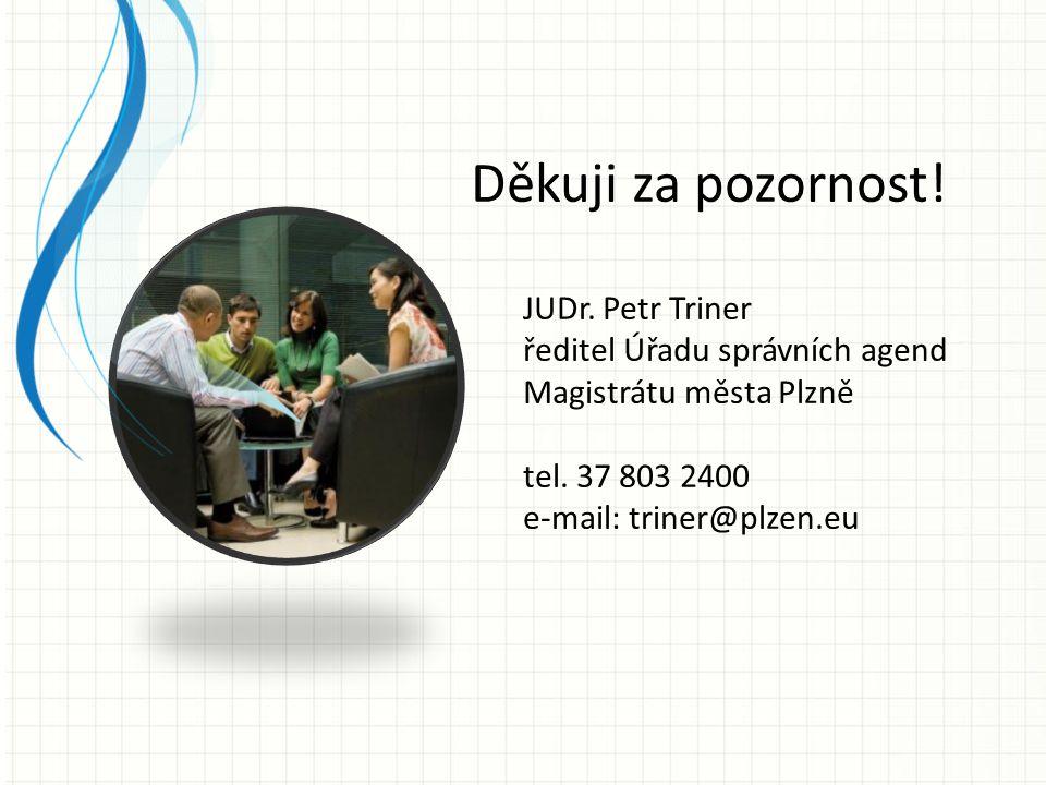 Děkuji za pozornost! JUDr. Petr Triner ředitel Úřadu správních agend