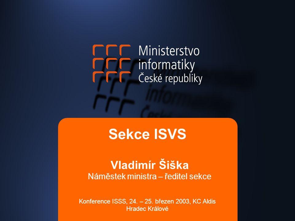 Vladimír Šiška Náměstek ministra – ředitel sekce