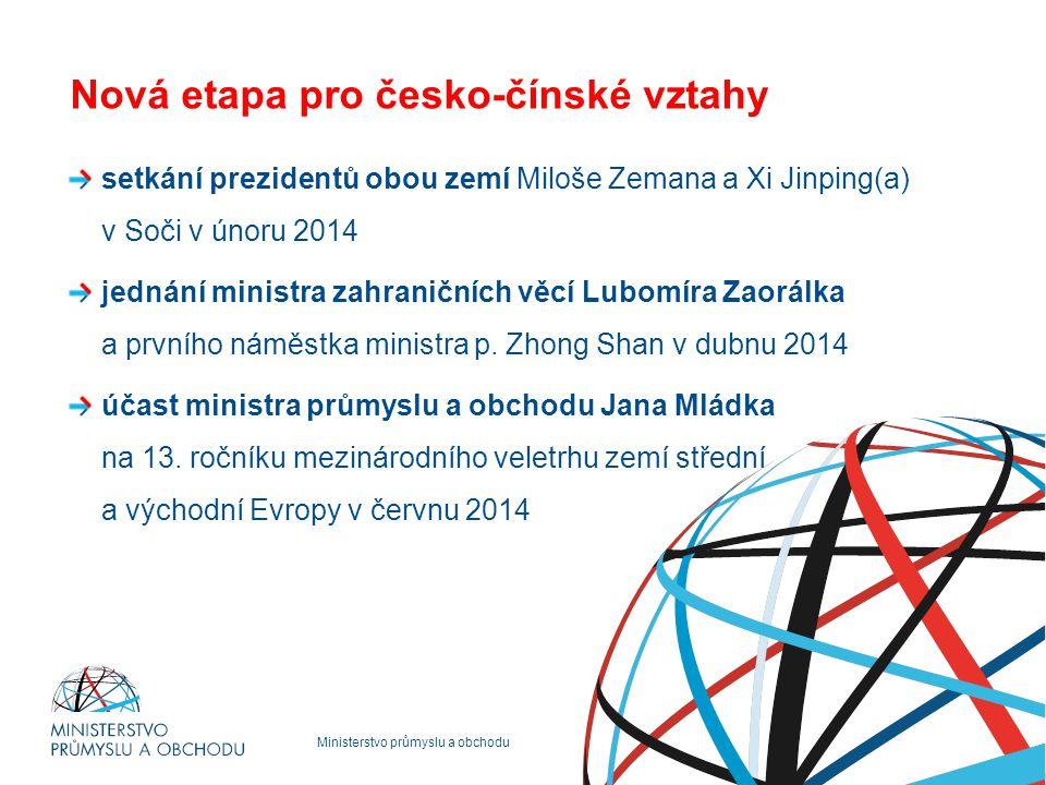 Nová etapa pro česko-čínské vztahy