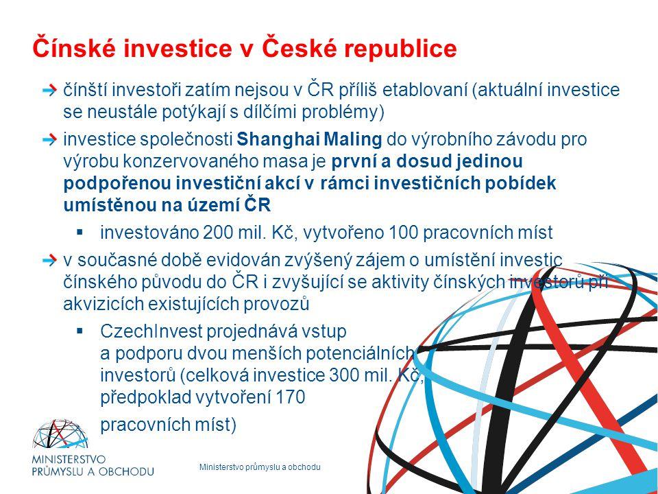 Čínské investice v České republice